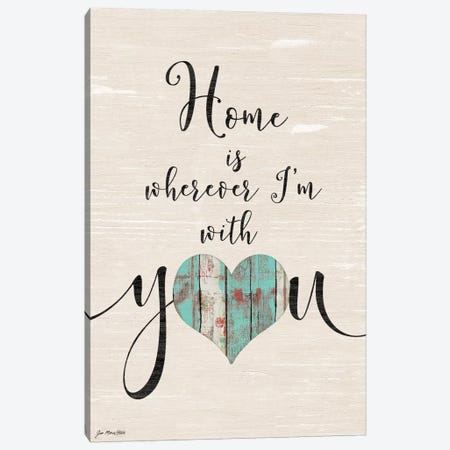 Home With You Canvas Print #JOM12} by Jo Moulton Canvas Artwork