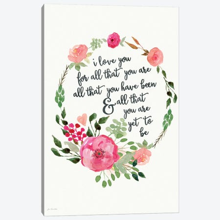 I Love You Because Canvas Print #JOM13} by Jo Moulton Canvas Wall Art