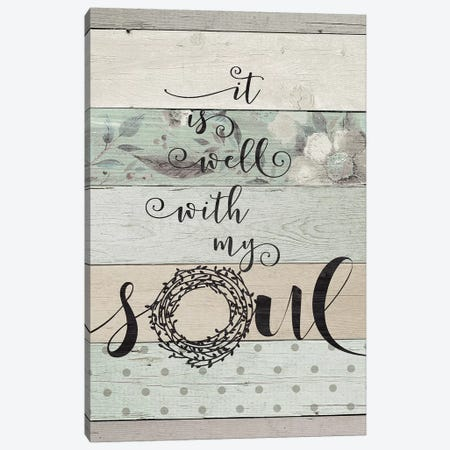 It Is Well With My Soul Canvas Print #JOM15} by Jo Moulton Art Print