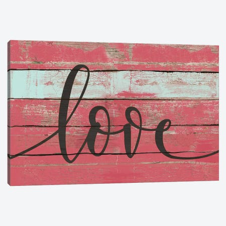 Love Canvas Print #JOM17} by Jo Moulton Canvas Art Print