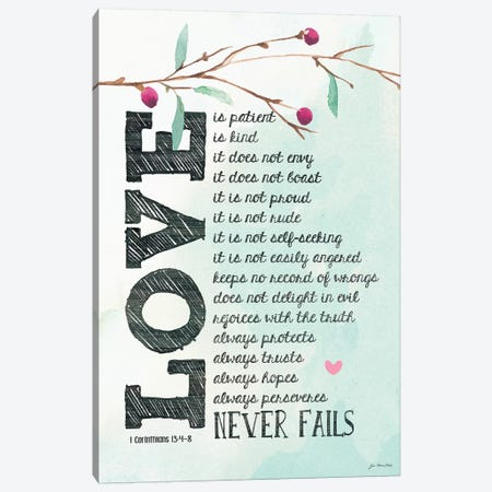 Love Is… Canvas Print #JOM18} by Jo Moulton Canvas Wall Art