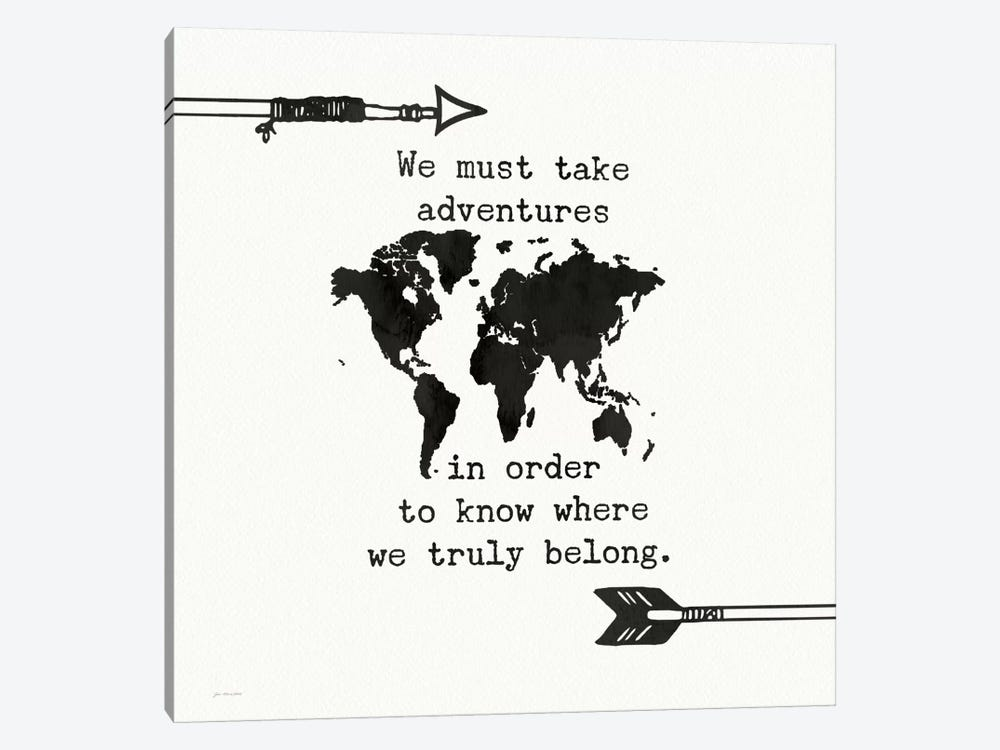 Adventures Map by Jo Moulton 1-piece Art Print