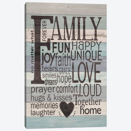 Family Canvas Print #JOM6} by Jo Moulton Canvas Artwork