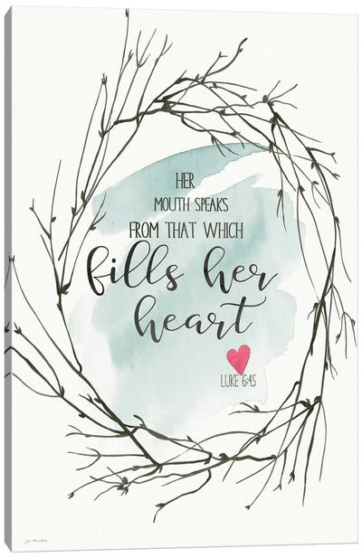 Fills Her Heart Canvas Art Print
