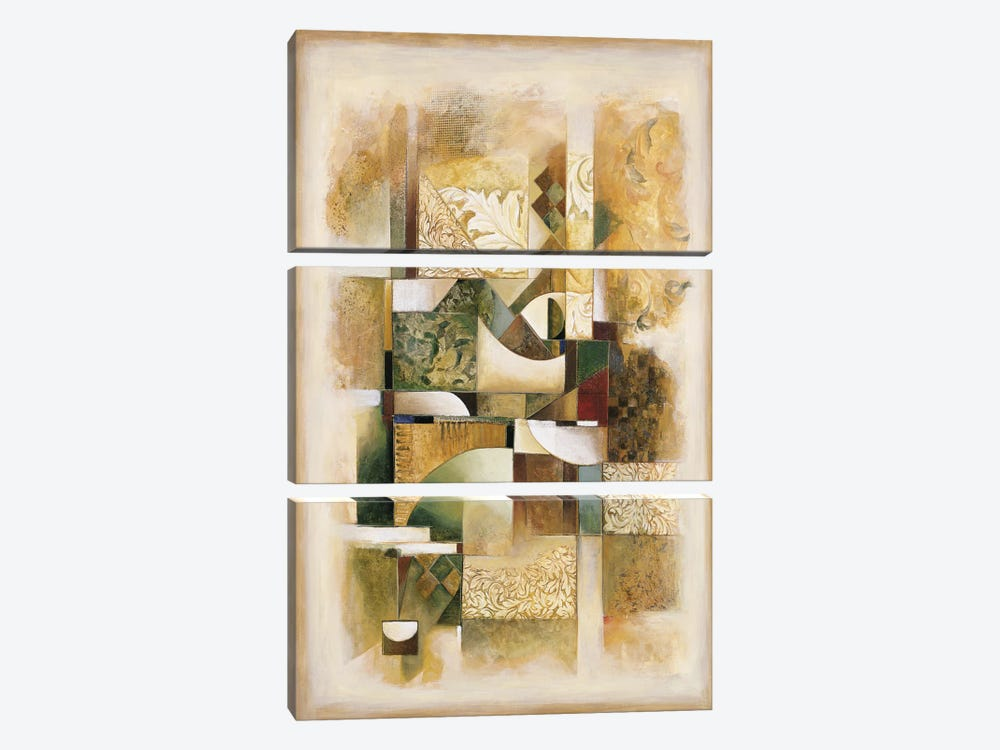 Abstract collage I by Jonathan Parsons 3-piece Canvas Art Print