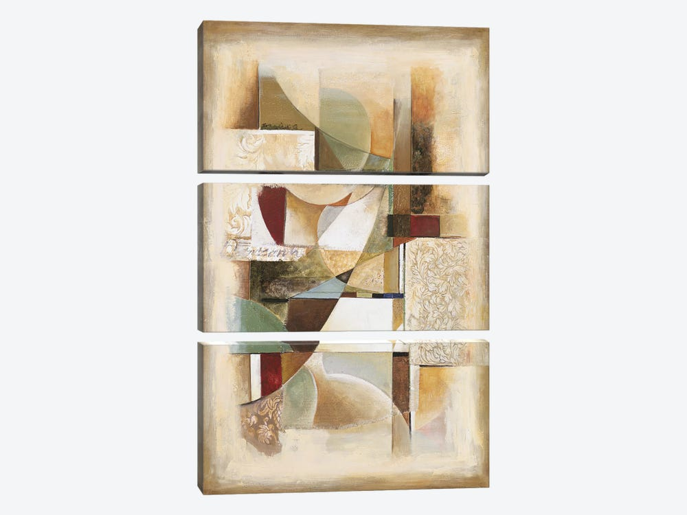 Abstract collage II by Jonathan Parsons 3-piece Canvas Art