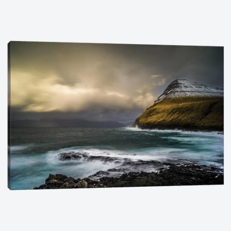Storm At The Faroe Islands Canvas Print #JOR106} by Anders Jorulf Canvas Art