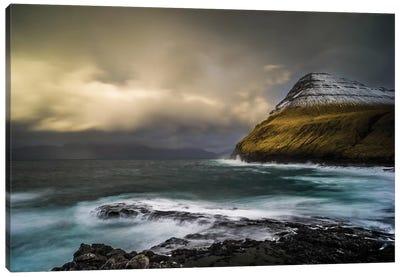 Storm At The Faroe Islands Canvas Art Print