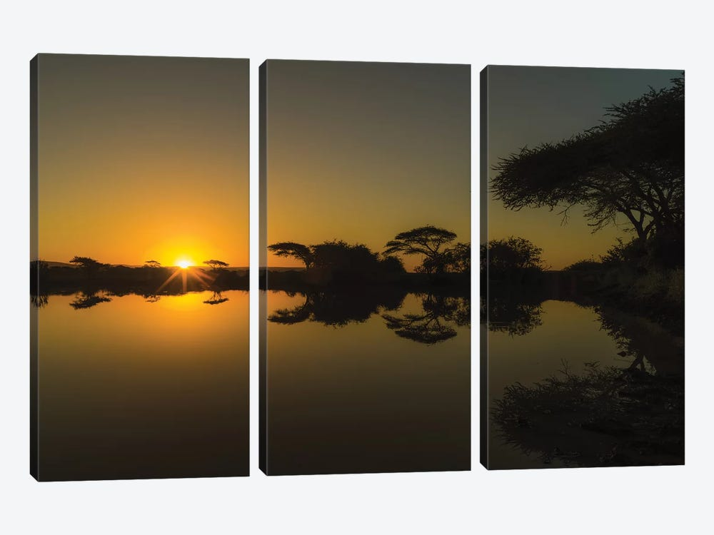 Sunset Reflections by Anders Jorulf 3-piece Canvas Art Print