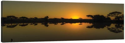 The African Sunset Canvas Art Print