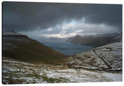 The Faroe Islands Road Canvas Art Print