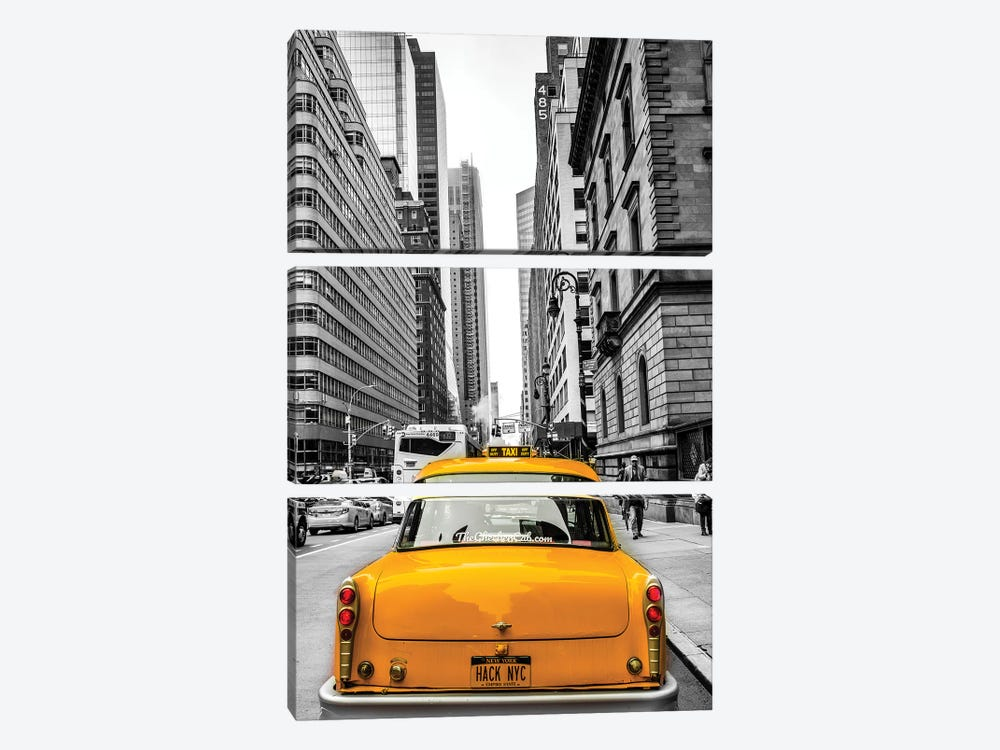 Checker In New York by Anders Jorulf 3-piece Canvas Wall Art