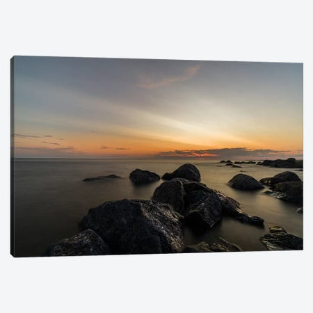 The Baltic Sea At Sunset Canvas Print #JOR130} by Anders Jorulf Canvas Artwork