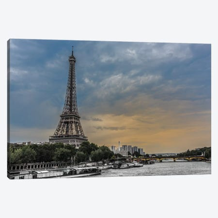 Evening Over Paris Canvas Print #JOR13} by Anders Jorulf Canvas Art Print