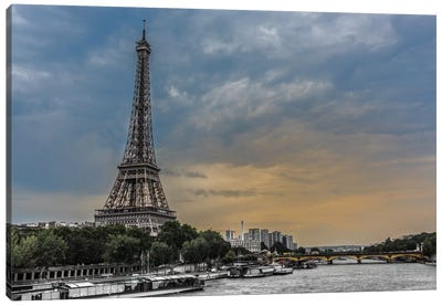 Evening Over Paris Canvas Art Print