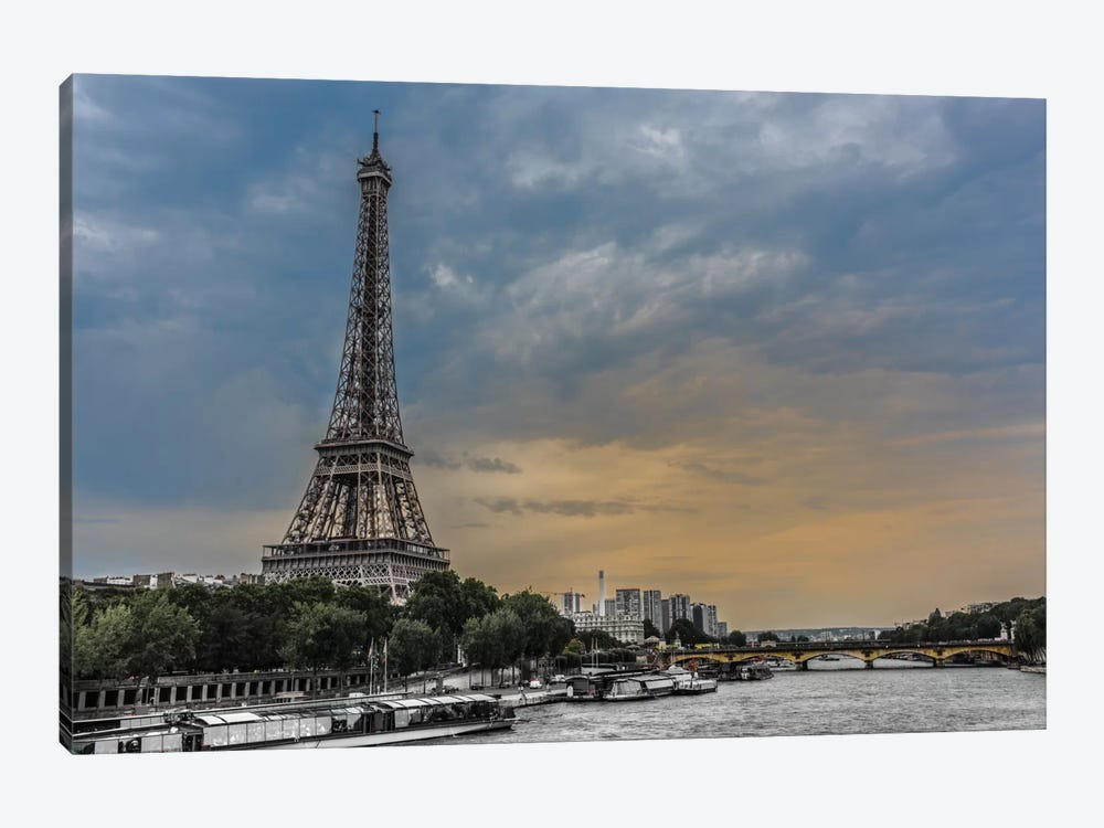 Evening Over Paris 1-piece Canvas Art