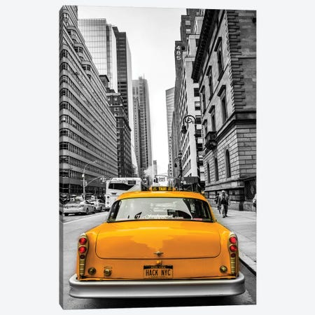 Cab In Nyc Canvas Print #JOR148} by Anders Jorulf Canvas Print
