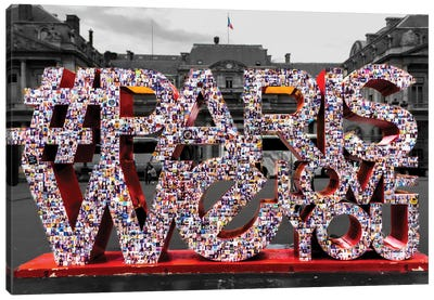 # Love In Paris Canvas Print #JOR1