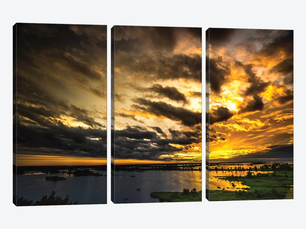 Last Sunset by Anders Jorulf 3-piece Art Print