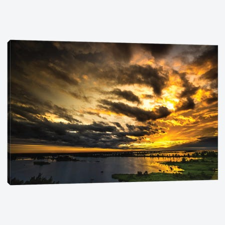 Last Sunset 3-Piece Canvas #JOR21} by Anders Jorulf Canvas Art