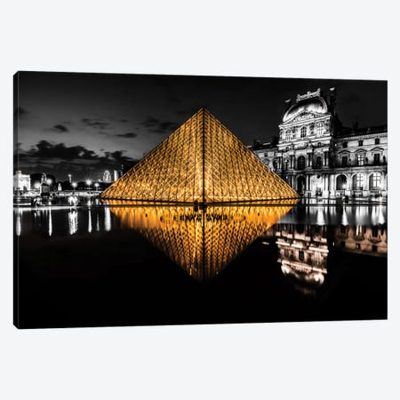 The Louvre Canvas Print #JOR23} by Anders Jorulf Canvas Artwork