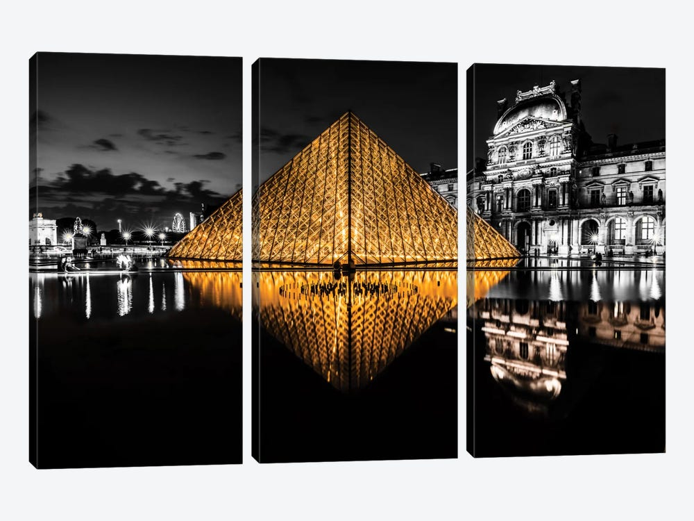 The Louvre by Anders Jorulf 3-piece Canvas Art Print