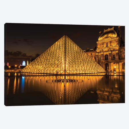 The Louvre, Paris Canvas Print #JOR24} by Anders Jorulf Canvas Print