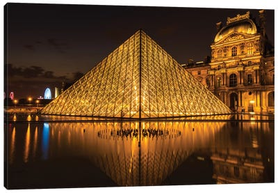 The Louvre, Paris Canvas Art Print