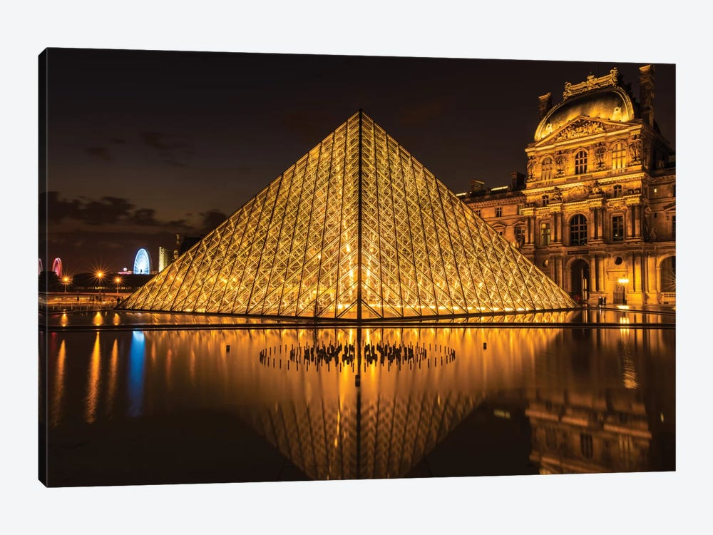 The Louvre, Paris by Anders Jorulf 1-piece Canvas Artwork