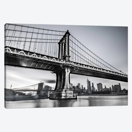Manhattan Bridge Canvas Print #JOR26} by Anders Jorulf Art Print
