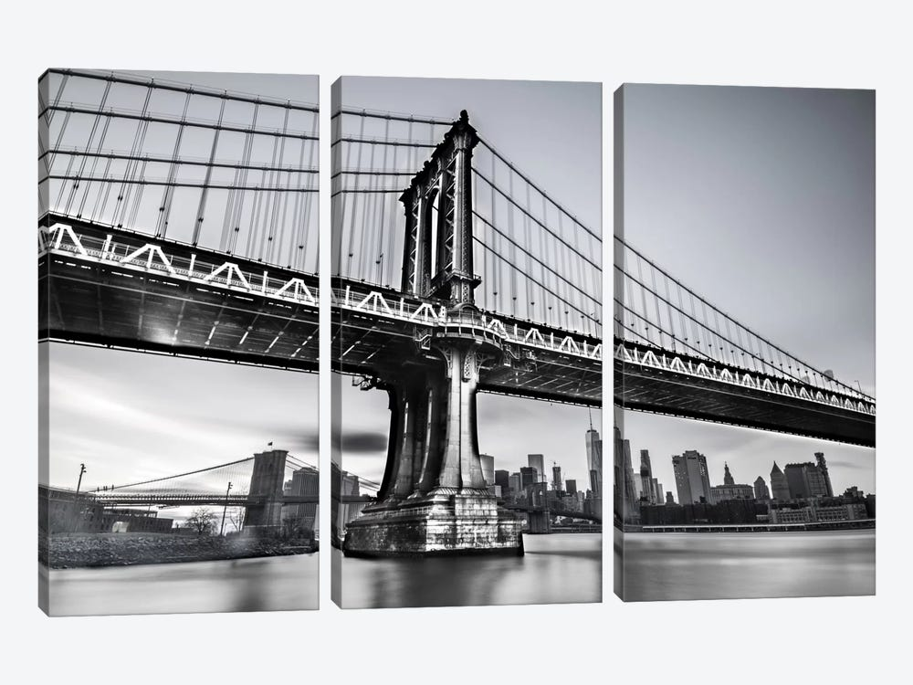 Manhattan Bridge by Anders Jorulf 3-piece Canvas Art