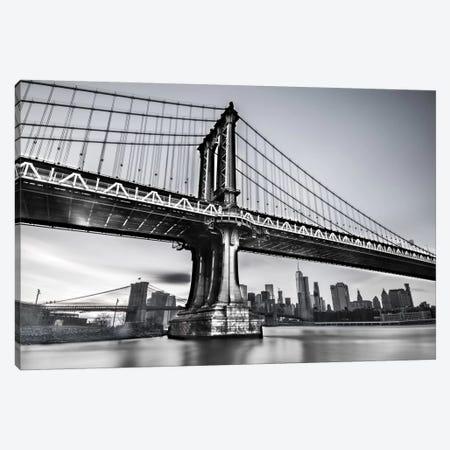 Manhattan Bridge Canvas Print #JOR26} by Anders Jorulf Art Print