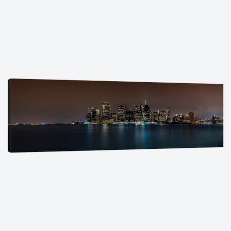 Manhattan Skyline Canvas Print #JOR27} by Anders Jorulf Canvas Art Print