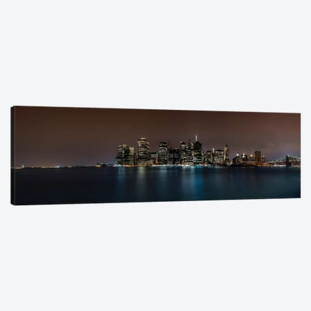 Manhattan Skyline Canvas Print #JOR27} by Anders Jorulf Canvas Art Print