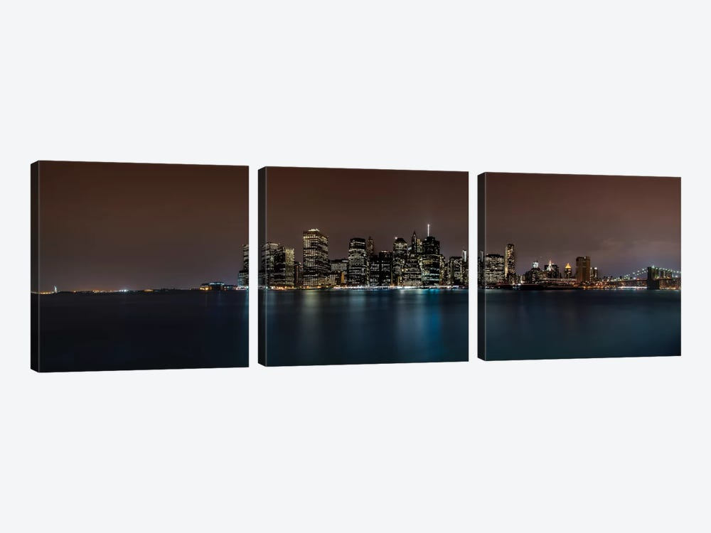Manhattan Skyline 3-piece Canvas Art Print