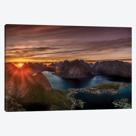 Midnight Sun, Norway I Canvas Print #JOR28} by Anders Jorulf Canvas Art