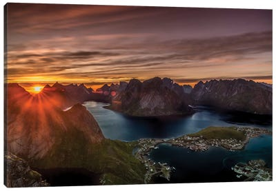 Midnight Sun, Norway Canvas Art Print