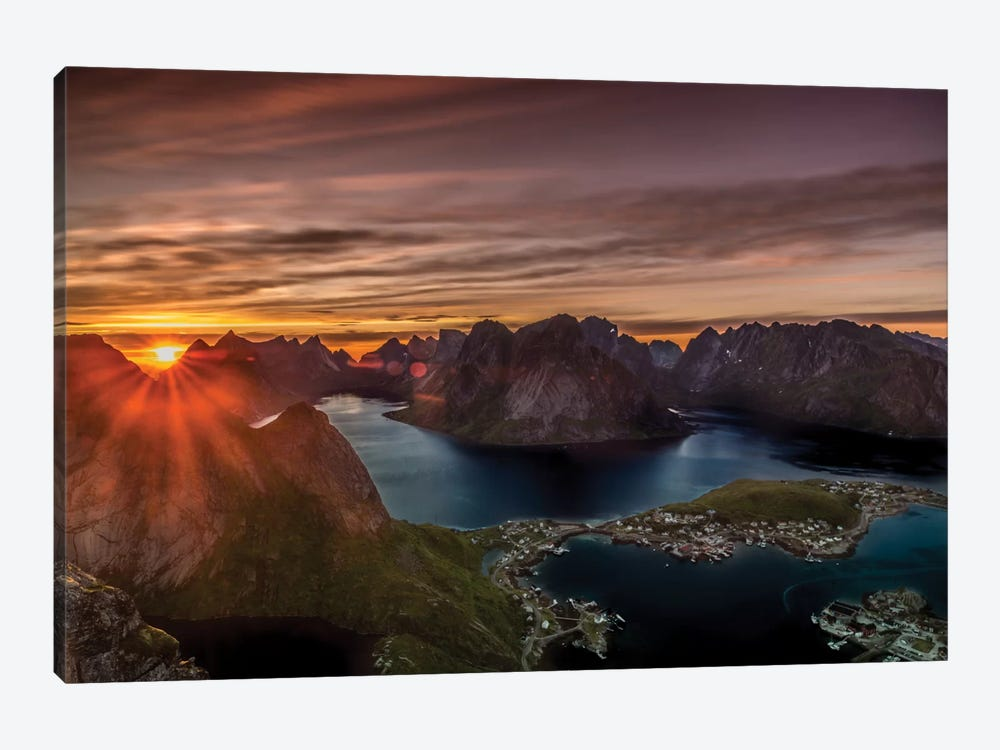 Midnight Sun, Norway by Anders Jorulf 1-piece Canvas Art