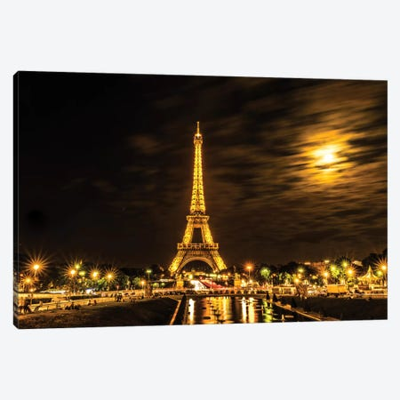 Moonlight Over Paris Canvas Print #JOR29} by Anders Jorulf Canvas Wall Art