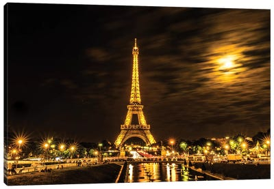 Moonlight Over Paris Canvas Art Print