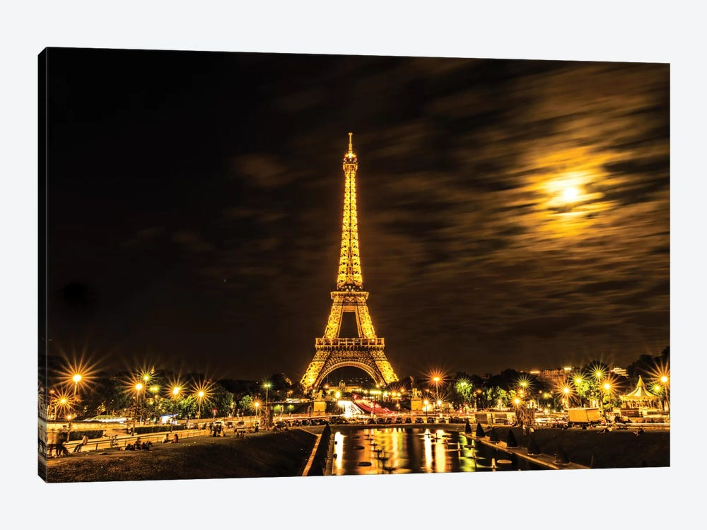 Moonlight Over Paris by Anders Jorulf 1-piece Canvas Art Print