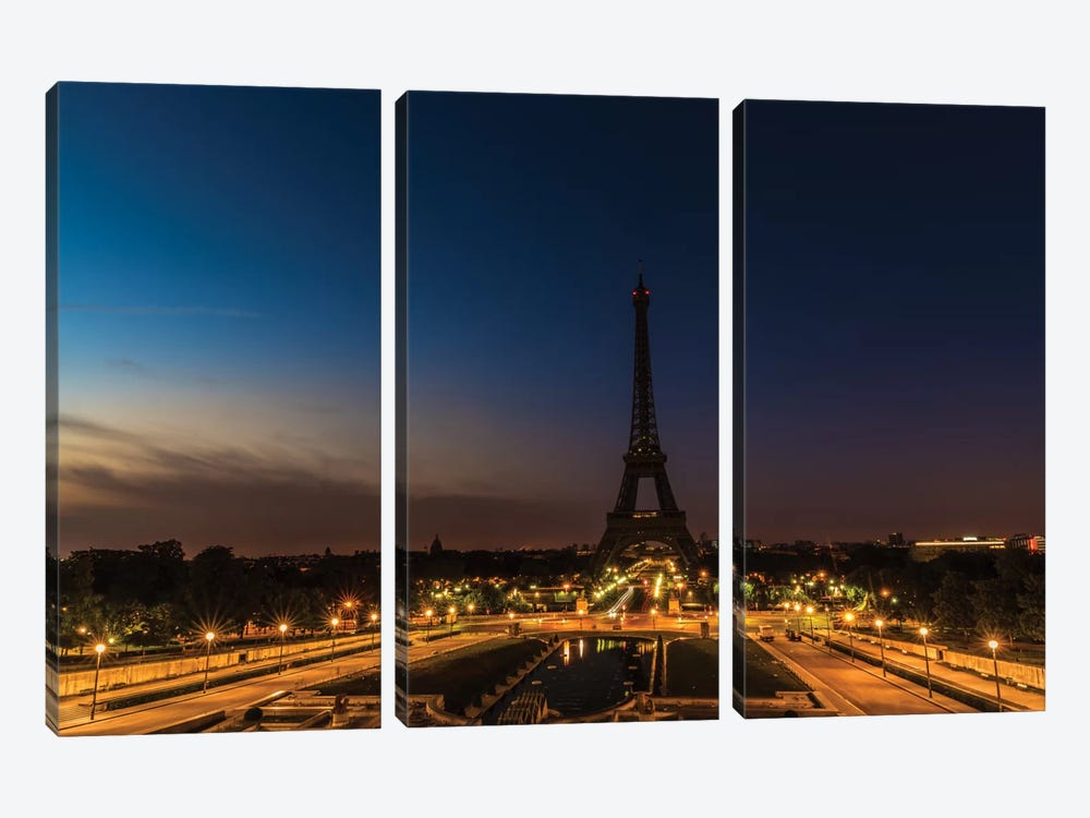 Morning In Paris by Anders Jorulf 3-piece Canvas Art