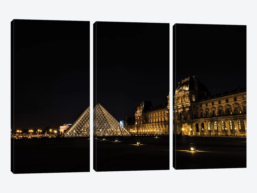 Night In Paris by Anders Jorulf 3-piece Canvas Art