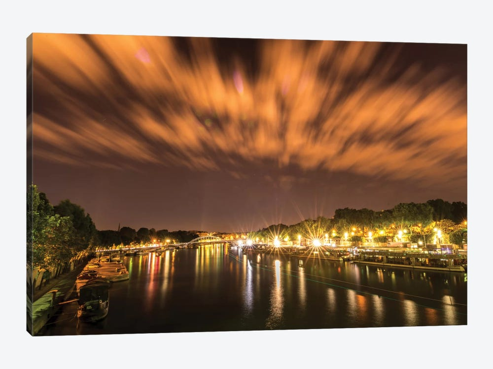 Night Over The Seine by Anders Jorulf 1-piece Canvas Art Print