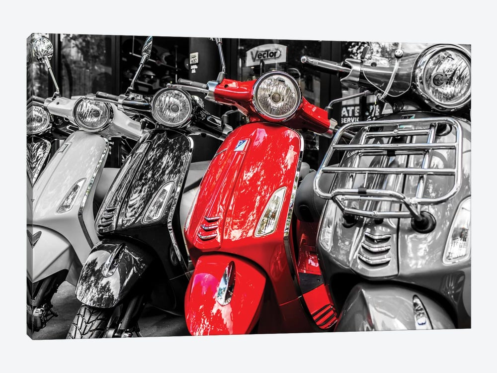 Red Vespa, Paris by Anders Jorulf 1-piece Canvas Art
