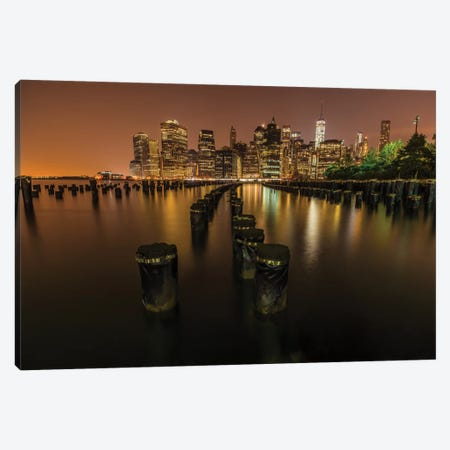 Silent Night In NYC Canvas Print #JOR41} by Anders Jorulf Canvas Artwork