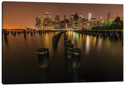 Silent Night In NYC Canvas Art Print