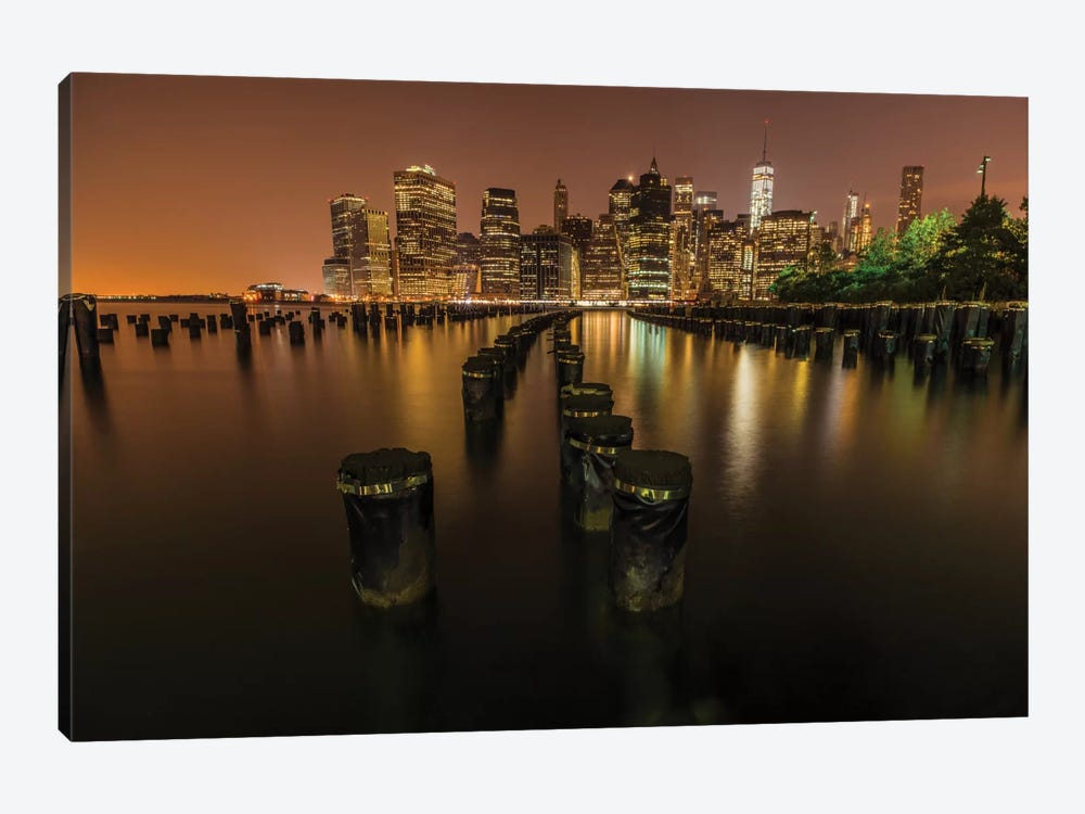 Silent Night In NYC by Anders Jorulf 1-piece Canvas Art Print