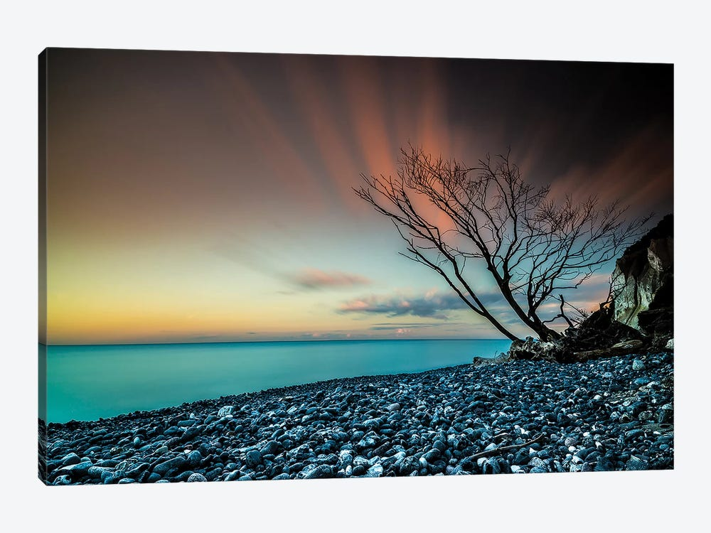 Sunset In Denmark by Anders Jorulf 1-piece Canvas Wall Art