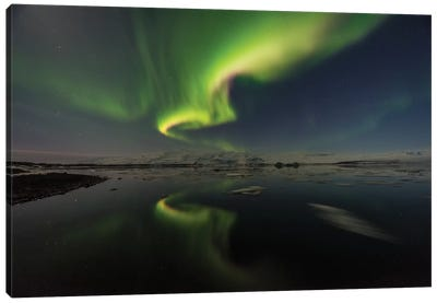 The Aurora Heart Canvas Print #JOR45